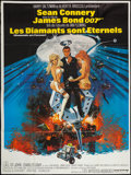 "Movie Posters:James Bond, Diamonds are Forever (United Artists, 1971). French Grande (47"" X 63""). James Bond.. ..."