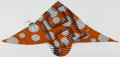 Luxury Accessories:Accessories, Hermes Orange, Black & White Silk Pointu Solaire Twili Scarf. ...