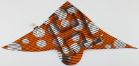 Hermes Orange, Black & White Silk Pointu Solaire Twili Scarf
