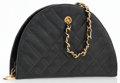 Luxury Accessories:Bags, Chanel Black Quilted Lambskin Leather Half Moon Camera Bag. ...