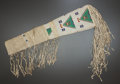 American Indian Art:Beadwork and Quillwork, A SIOUX BEADED HIDE RIFLE SCABBARD. c. 1900...
