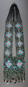 American Indian Art:Beadwork and Quillwork, A WESTERN GREAT LAKES CHILD'S BANDOLIER. c. 1910...
