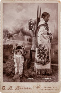 "American Indian Art:Photographs, ""AMIE, KIAWAH,"" CABINET CARD BY G. A. ADDISON, FT. SILL, OK..."