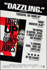 """Listen Up: The Lives of Quincy Jones (Warner Brothers, 1990). One Sheet (2) (27"""" X 40.5"""") Regular and Review S..."""