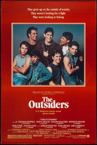 """The Outsiders (Warner Brothers, 1982). One Sheet (27"""" X 41"""") & Poster (24.5"""" X 40""""). Crime..."""