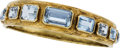 Estate Jewelry:Bracelets, Aquamarine, Gold Bracelet. ...