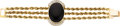 Estate Jewelry:Bracelets, Black Onyx, Diamond, Gold Bracelet. ...