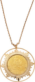Estate Jewelry:Necklaces, Gold Coin, Gold Necklace. ...