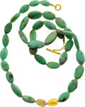 Estate Jewelry:Necklaces, Chrysoprase, Gold Necklace, Yossi Harari. ...