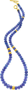 Estate Jewelry:Necklaces, Tanzanite, Gold Necklace, Yossi Harari. ...