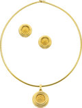 Estate Jewelry:Suites, Gold Coin, Gold Jewelry Suite. ...