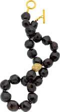 Estate Jewelry:Necklaces, Garnet, Gold Necklace, Yossi Harari. ...