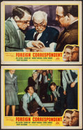 "Movie Posters:Hitchcock, Foreign Correspondent (Masterpiece Productions, R-1940s). LobbyCards (2) (11"" X 14""). Hitchcock.. ... (Total: 2 Items)"
