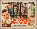 "Movie Posters:Comedy, The Town Went Wild (PRC, 1945). Half Sheet (22"" X 28""). Comedy.. ..."