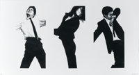 ROBERT LONGO (American, b. 1953) Jules, Gretchen, Mark, 1983 Lithograph and embossing 36 x 68 inc