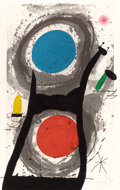 Prints:European Modern, JOAN MIRÓ (Spanish, 1893-1983). L'Adorateur du Soleil, 1969.Etching and aquatint in colors with carborundum. 41-1/2 x 2...