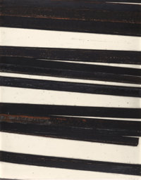 BERNAR VENET (French, b. 1941) Straight Lines/Obliques, 1998 Oilstick on paper 51-1/2 x 40-1/4 in