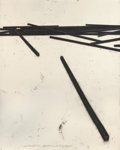 Works on Paper, BERNAR VENET (French, b. 1941). Straight Bars - Disorder, 1998. Oilstick and pencil on paper. 75 x 60 inches (190.5 x 15...