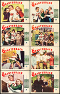 "Movie Posters:Sports, The Quarterback (Paramount, 1940). Lobby Card Set of 8 (11"" X 14""). Sports.. ... (Total: 8 Items)"