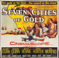 "Movie Posters:Adventure, Seven Cities of Gold (20th Century Fox, 1955). Six Sheet (78"" X79""). Adventure.. ..."