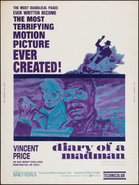 "Diary of a Madman (United Artists, 1963). Poster (30"" X 40""). Horror"