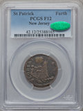 (1670-75) FARTH St. Patrick Farthing Fine 12 PCGS. CAC. Breen-208....(PCGS# 42)