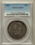 Bust Half Dollars: , 1809 50C Normal Edge XF40 PCGS. PCGS Population (64/367). NGCCensus: (49/611). Mintage: 1,405,810. Numismedia Wsl. Price f...