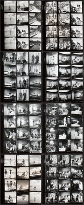 """Thunderball (United Artists, 1965). Contact Proof Sheets (8) (8"""" X 10""""). ... (Total: 8 Items)"""
