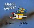 Animation Art:Production Cel, Space Ghost Opening Title Production Cel Set-Up Signed by Bill Hanna and Joe Barbera (Hanna-Barbera, 1966)....