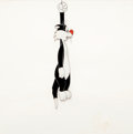 Animation Art:Production Cel, A Mouse Divided Sylvester the Cat Production Cel (WarnerBrothers, 1953)....