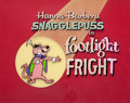 Animation Art:Production Cel, Footlight Fright Snagglepuss Production Title Cel and Background with Main Title Directory (Hanna-Barbera, 1961-62)....