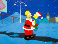 Animation Art:Production Cel, The Simpsons Christmas Special Homer and Bart Production Cel (Fox, 1989)....