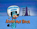 """Animation Art:Production Cel, Huckleberry Hound Show """"Astro-Nut Huck"""" Production Title CelSet-Up and Background (Hanna-Barbera, 1960).... (Total: 4 Items)"""