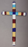American Indian Art:Beadwork and Quillwork, A SIOUX BEADED CROSS. c. 1900...