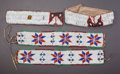 American Indian Art:Beadwork and Quillwork, TWO PAIRS OF PLAINS BEADED HIDE ARMBANDS... (Total: 2 Items)