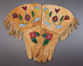 American Indian Art:Beadwork and Quillwork, A PAIR OF PLATEAU BEADED HIDE GAUNTLETS. c. 1900...