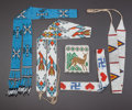 American Indian Art:Beadwork and Quillwork, FIVE GREAT LAKES LOOM-BEADED ITEMS... (Total: 5 Items)