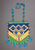 American Indian Art:Beadwork and Quillwork, A PLATEAU PICTORIAL BEADED HIDE POUCH...