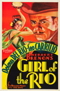 "Movie Posters:Drama, Girl of the Rio (RKO, 1932). One Sheet (27"" X 41"").. ..."