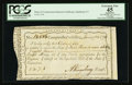 Colonial Notes:Connecticut, Connecticut Interest Payment Certificate. January 24, 1792. CutCancelled. PCGS Apparent Extremely Fine 45.. ...