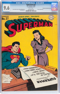 Superman #27 Pennsylvania pedigree - Double Cover (DC, 1944) CGC NM+ 9.6 White pages