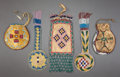 American Indian Art:Beadwork and Quillwork, FIVE SOUTHERN PLAINS BEADED HIDE POUCHES. c. 1900... (Total: 5Items)