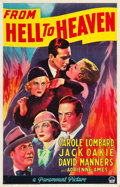 "Movie Posters:Drama, From Hell to Heaven (Paramount, 1933). One Sheet (27"" X 41"").Drama.. ..."