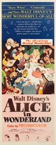 "Movie Posters:Animation, Alice in Wonderland (RKO, 1951). Insert (14"" X 36"").. ..."