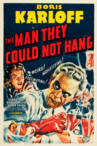 "The Man They Could Not Hang (Columbia, 1939). One Sheet (27"" X 41""). Horror"