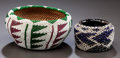 American Indian Art:Baskets, TWO WASHO BEADED ITEMS... (Total: 2 Items)