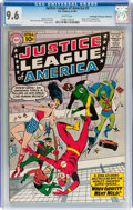Silver Age (1956-1969):Superhero, Justice League of America #5 Don/Maggie Thompson Collectionpedigree (DC, 1961) CGC NM+ 9.6 White pages....
