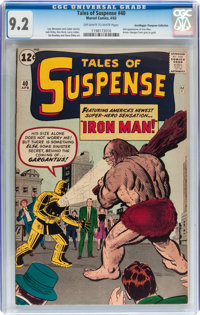 Tales of Suspense #40 Don/Maggie Thompson Collection pedigree (Marvel, 1963) CGC NM- 9.2 Off-white to white pages