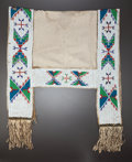 American Indian Art:Beadwork and Quillwork, A SIOUX BEADED HIDE SADDLE BLANKET. c. 1900...