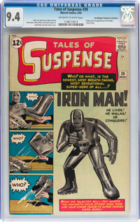 Tales of Suspense #39 Don/Maggie Thompson Collection pedigree (Marvel, 1963) CGC NM 9.4 Off-white to white pages